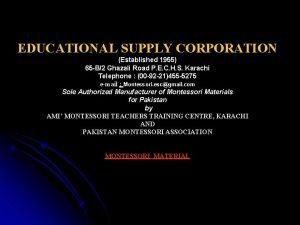 EDUCATIONAL SUPPLY CORPORATION Established 1955 65 B2 Ghazali