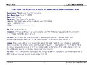 March 2002 doc IEEE 802 15 02137 r