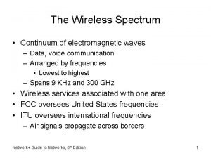 The Wireless Spectrum Continuum of electromagnetic waves Data
