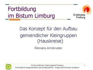 Fortbildung im Bistum Limburg Das Konzept fr den