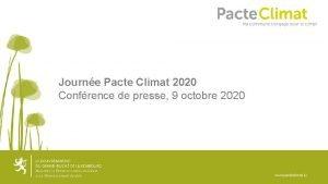 Journe Pacte Climat 2020 Confrence de presse 9
