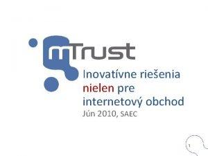 Inovatvne rieenia nielen pre internetov obchod Jn 2010