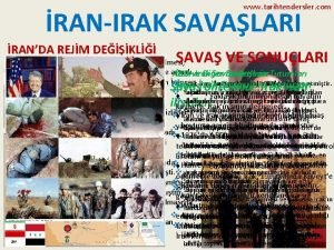 www tarihtendersler com RANIRAK SAVALARI RANDA REJM DEKL