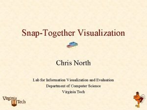 SnapTogether Visualization Chris North Lab for Information Visualization