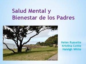 Salud Mental y Bienestar de los Padres Helen