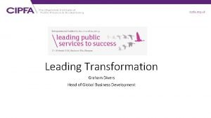 cipfa org uk Leading Transformation Graham Divers Head