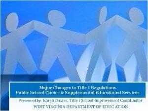 Major Changes to Title I Regulations Public School