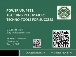 POWER UP PETE TEACHING PETE MAJORS TECHNOTOOLS FOR