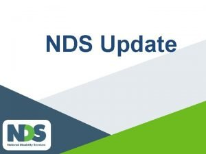 NDS Update NDIS current status Barwon trial is