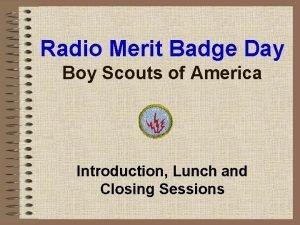 Radio Merit Badge Day Boy Scouts of America