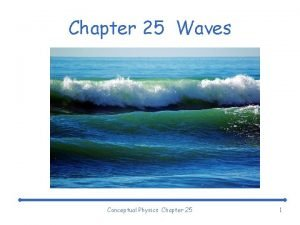 Chapter 25 Waves Conceptual Physics Chapter 25 1