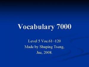 Vocabulary 7000 Level 5 Voc 61120 Made by