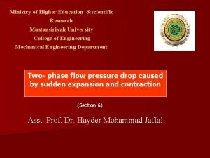 Ministry of Higher Education scientific Research Mustansiriyah University