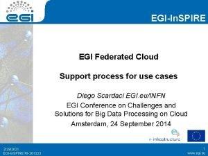 EGIIn SPIRE EGI Federated Cloud Support process for