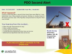 PDO Second Alert Date 2425 03 2017 Incident