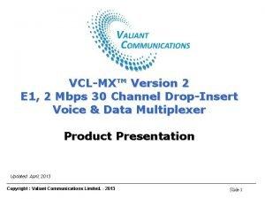 VCLMX E 1 Voice Data DropInsert Multiplexer VCLMX