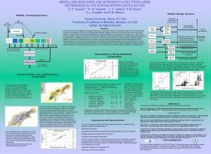 MODELLING DISCHARGE AND NITROGEN FLUXES FROM LARGE WATERSHEDS