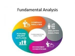 Fundamental Analysis Meaning of Fundamental Analysis It is