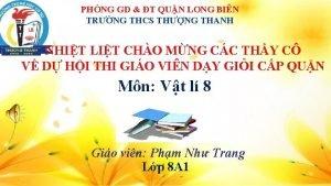 PHNG GD T QUN LONG BIN TRNG THCS