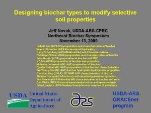 Designing biochar types to modify selective soil properties