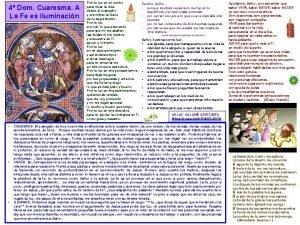 4 Dom Cuaresma A La Fe es iluminacin