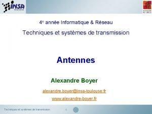 4 e anne Informatique Rseau Techniques et systmes