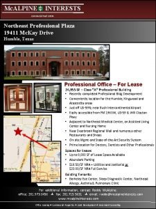 Mc ALPINE INTERESTS Commercial Real Estate Northeast Professional