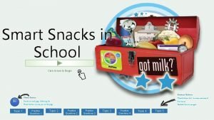 Smart Snacks in School Click Arrow to Begin