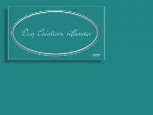 Day Crations rflexives 2012 Jai toujours aim la