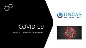 COVID19 COMMUNITY PLANNING STRATEGIES NONPHARMACEUTICAL INTERVENTIONS Nonpharmaceutical Interventions