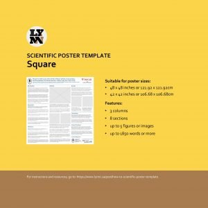 SCIENTIFIC POSTER TEMPLATE Square Suitable for poster sizes