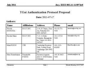 July 2011 doc IEEE 802 11 110976 r