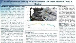 Satellite Remote Sensing of the Greenland Ice Sheet