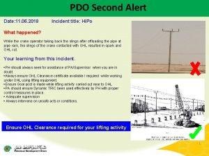 PDO Second Alert Date 11 06 2018 Incident