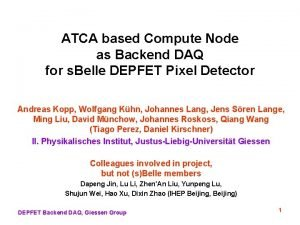 ATCA based Compute Node as Backend DAQ for