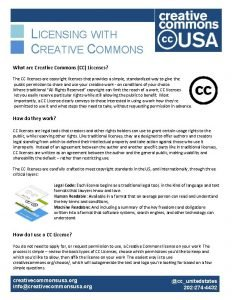 LICENSING WITH CREATIVE COMMONS What are Creative Commons