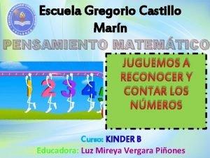 Escuela Gregorio Castillo Marn PENSAMIENTO MATEMTICO JUGUEMOS A