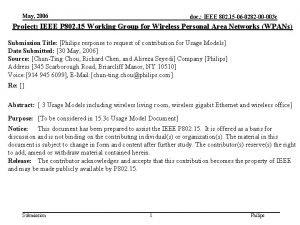 May 2006 doc IEEE 802 15 06 0282