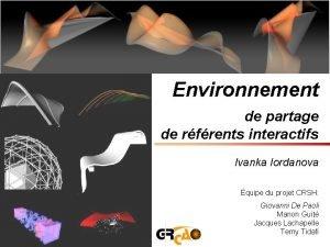 Environnement de partage de rfrents interactifs Ivanka Iordanova