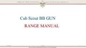 Cub Scout BB GUN RANGE MANUAL 2262021 Draft