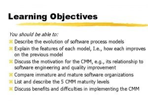 Learning Objectives You should be able to z