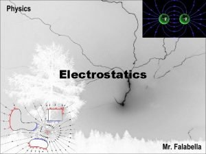 Electrostatics Electricity in one form or another is