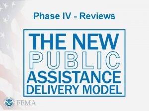 Phase IV Reviews Phase IV Obligation PHASE IV