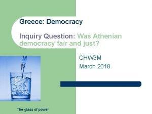 Greece Democracy Inquiry Question Was Athenian democracy fair