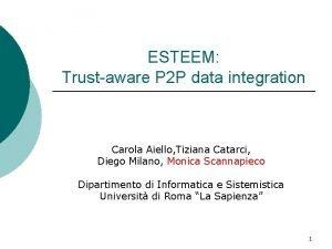 ESTEEM Trustaware P 2 P data integration Carola