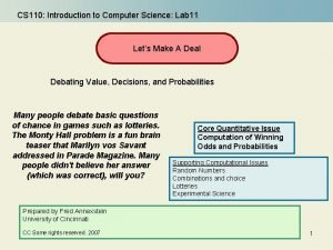 CS 110 Introduction to Computer Science Lab 11