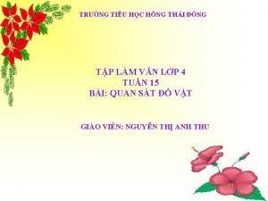TRNG TIU HC HNG THI NG TP LM