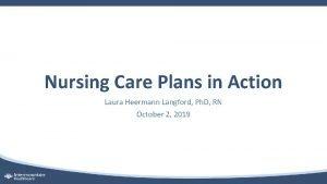 Nursing Care Plans in Action Laura Heermann Langford
