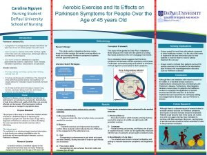 Parkinsons disease PD A progressive neurodegenerative disease that