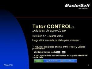 Master Soft llega ms lejos Tutor CONTROL prcticas